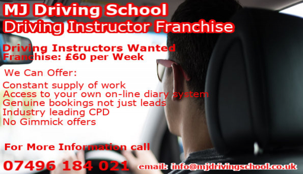 Driving Instructor Franchise - Driving Instructor Jobs - MJ Driving School Leeds
