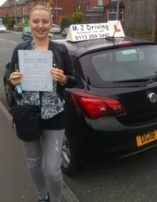Driving-Lessons-Leeds - Practical Driving Test Pass 6th September 2019 - Best Driving Lessons Leeds