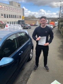 MJ Driving School Leeds - First Time Practical Driving Test Pass 14th March 2019
